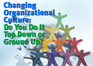 Changing Organizational Culture: Do You Do It Top Down or Ground Up?